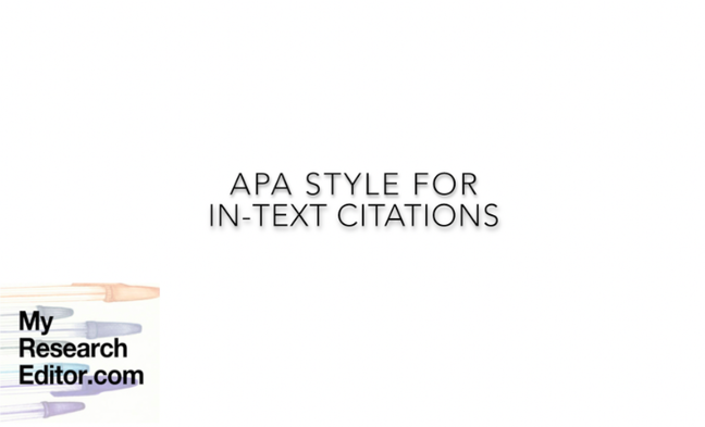 Video how to style APA in-text citations