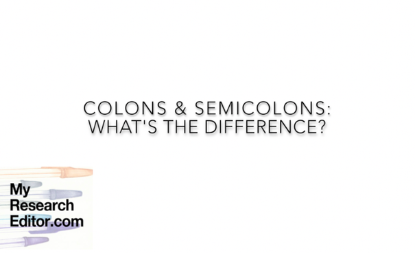 How to use colons and semicolons