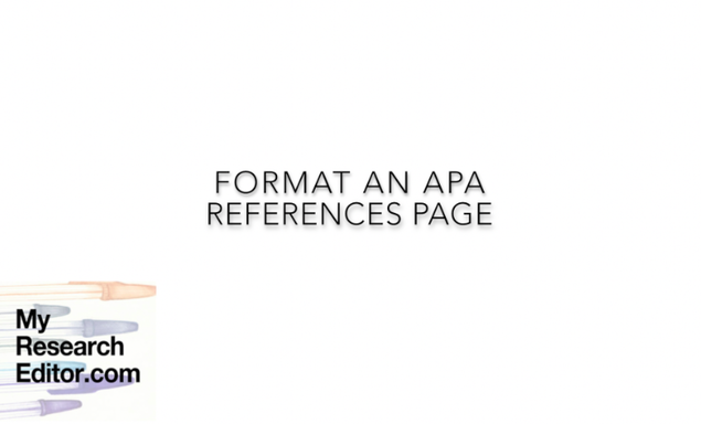 Video how to format and style apa references page