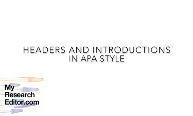 Video how to style APA headers and introductions