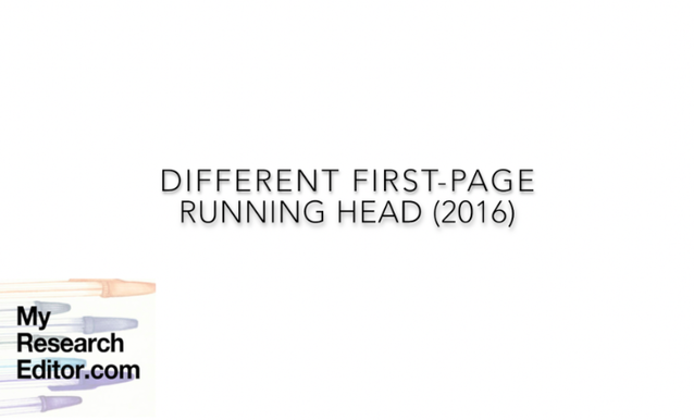 Video how to create a different first-page running head in Word